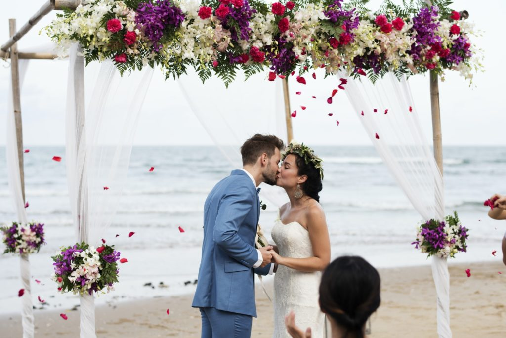 Wedding ceremony at the beach