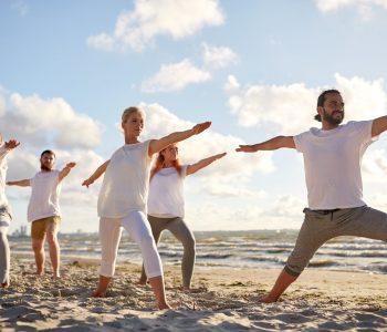 sarasota beach yoga group activities